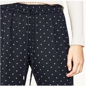 Zara Polka Dot Drawstring Pants